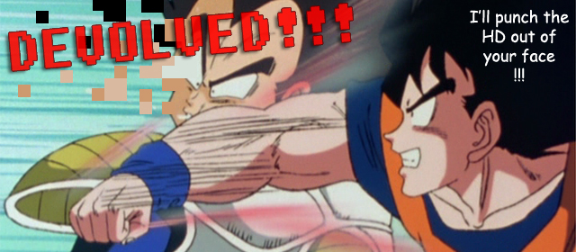 Vegeta's being devolved! - DRAGON BALL Z DEVOLUTION