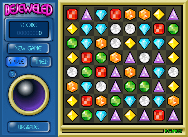 Bejeweled de PopCap Games