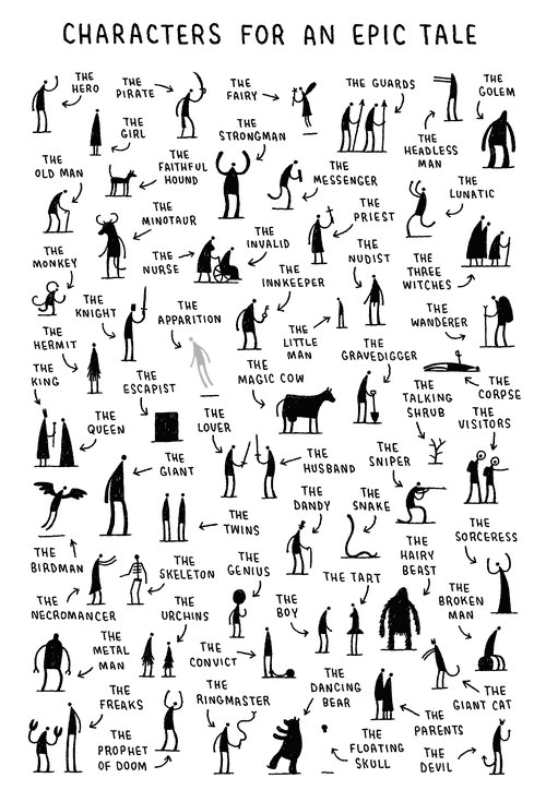 Characters for an Epic Tale - Tom Gauld