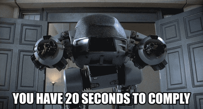 You have 20 seconds to comply