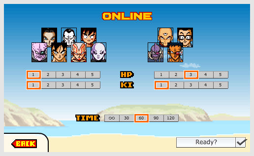 Dragon Ball Devolution - Online- Join game - Ready