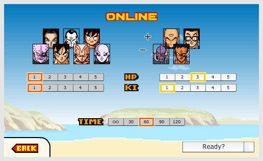 Dragon Ball Devolution - Online- Join game - Select