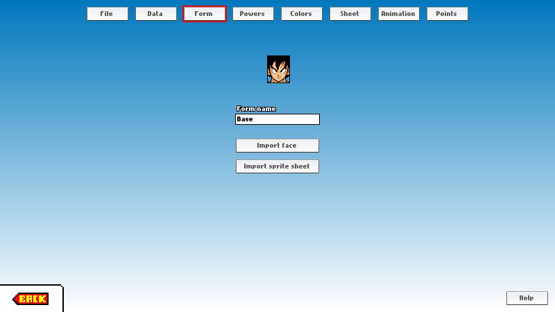 BASTON - custom fighter editor - Form